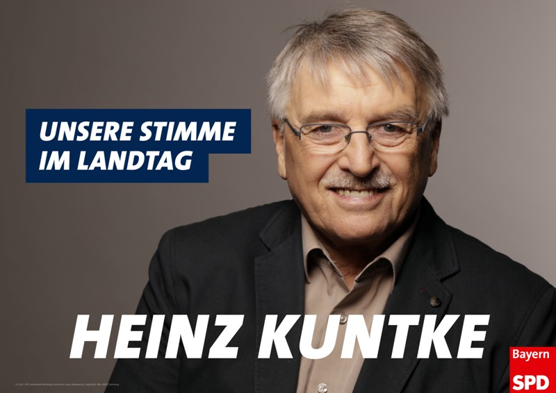 Plakat Heinz Kuntke Landtag 2018